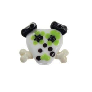 Sugar Skull Dog Bead - janetcrosby.com