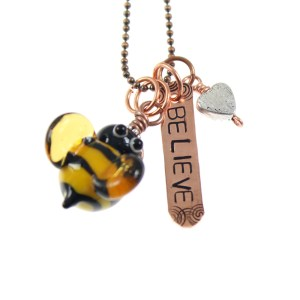 Believe Bee Necklace by Janet Crosby