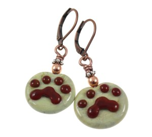 Paw Print Earrings by Janet Crosby