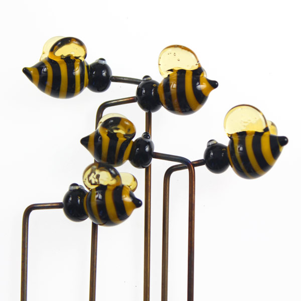 Garden Bee Plant Stakes by Janet Crosby