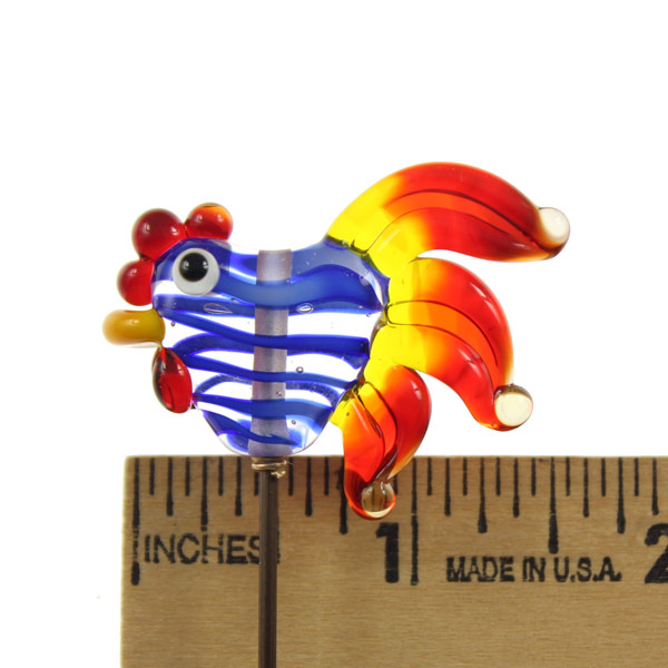Flaming Filigrana Rooster by Janet Crosby