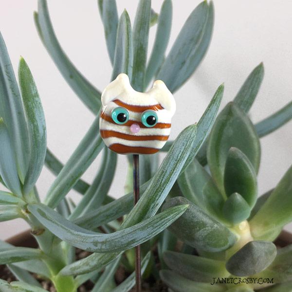 Kitty Jewel Plant Stake by Janet Crosby