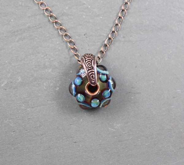 Ocean Drops Bail Necklace by Janet Crosby