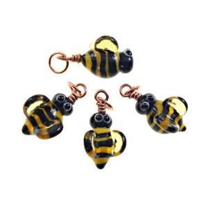Bee Charms by Janet Crosby