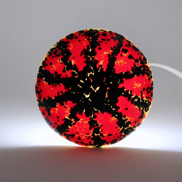 Black Spokes mushroom lamp by Janet Crosby