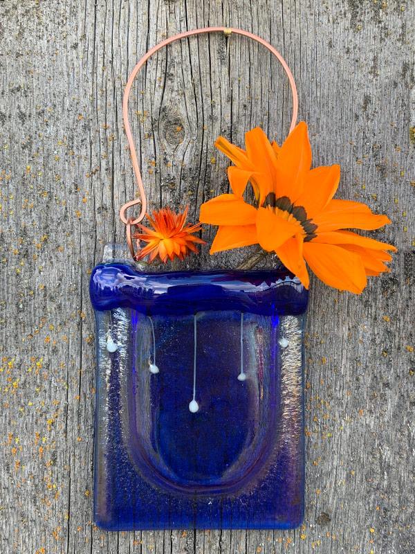Pocket Vase - Raindrops by Janet Crosby