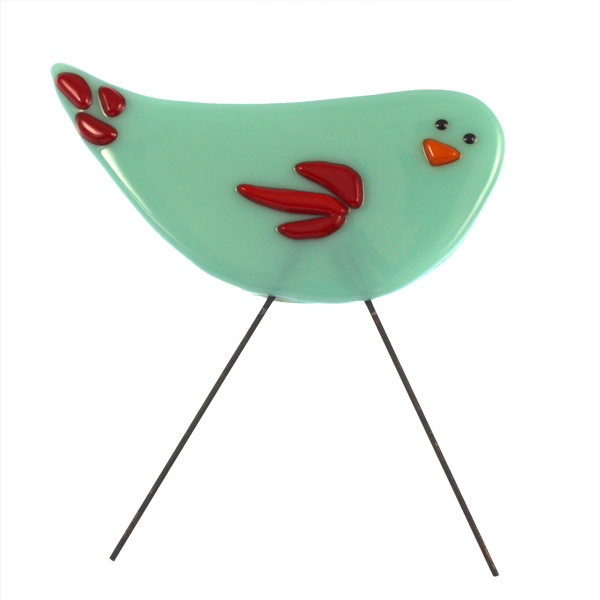 Garden Bird - Blue Belle by Janet Crosby