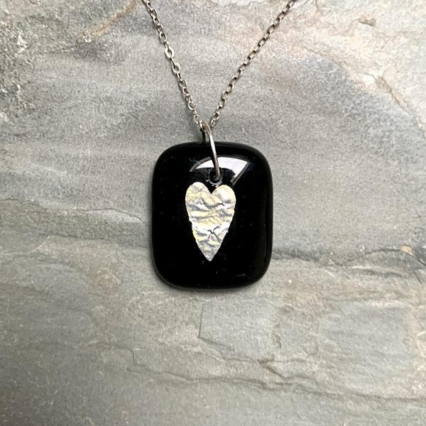 Silver Heart Pendant by Janet Crosby
