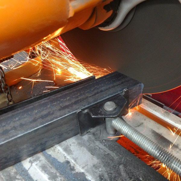 Welding the kiln stand