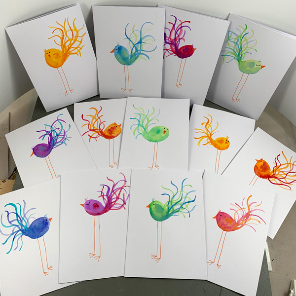 Bird Note Cards by Janet Crosby