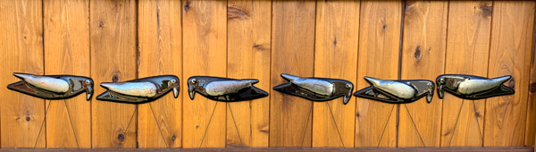 Ravens - garden art by Janet Crosby