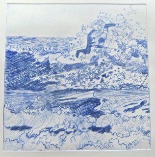Surfer 1 Artist's Proof (ultramarine + black)