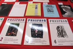 Publications including Phosphor on The Leeds Surrealist Group's table.