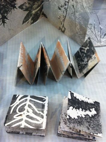 Stef Mitchell's small folded books.