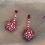 Handmade Christmas Ball Earrings