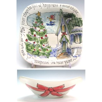 Celebration Pottery Christmas Bowl