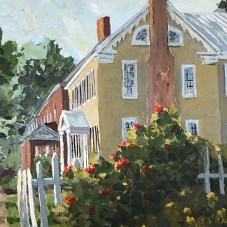 Johnson Street New Bern NC original oil byJanet Francoeur
