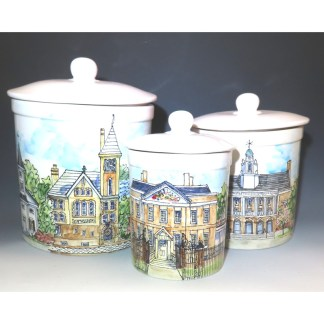 Celebrations Pottery by Jan Francoeur Canisters