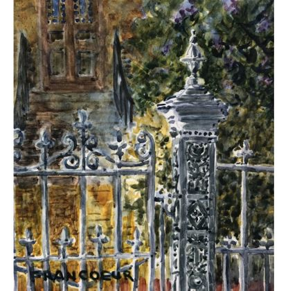 East Front Street Gate bu Janet Francoeur