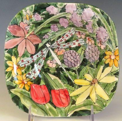 Jan Francoeur Small Square Bowl Celebration Pottery Nature