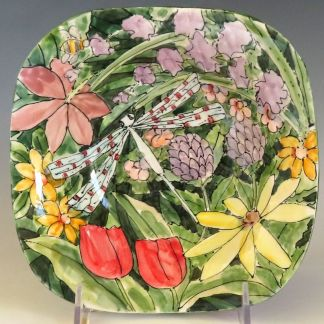 Jan Francoeur Small Square Bowl Celebration Pottery Nature