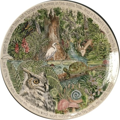 Jan Francoeur New Bern artist Nature platter