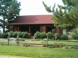 Our Chincoteague log cabin