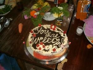 Our homemade cake for dessert. Yum