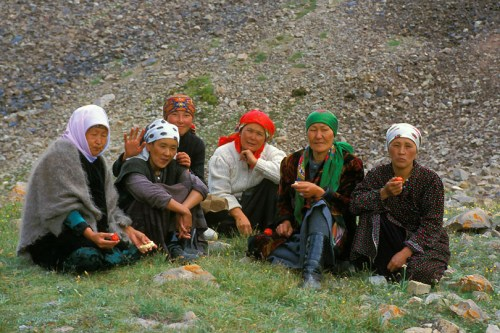This second picture reminds me of the women who I knew in my village of Jerkazar, near the capital city of Bishkek.  The women were of Muslim heritage (but not practicing Muslims) and wore scarves over their hair.  They were/are the hardest working segment of the population.