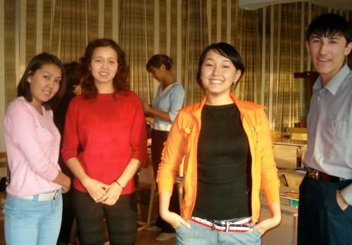 English 49 first year Dinara, Gulsana, Gulya and Yestai