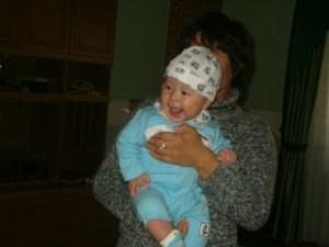 Little Nursultan is a happy baby