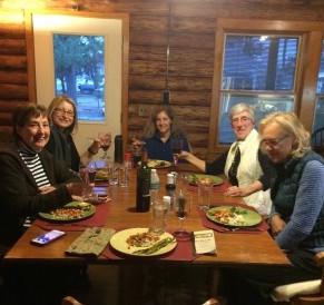 JanetGivens.com - Gathering around the dining table, Saturday night.