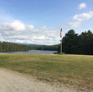 A view of the lake at Camp Ogantz, Lyman NH
