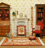 Miniature embroidery in my doll's house