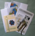 This is what you get in a Miniature Christmas tree mat kit, available from www.janetgranger.co.uk