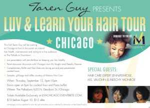 Taren Guy Luv & Learn Your Hair Chicago