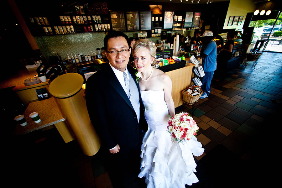 Starbucks wedding