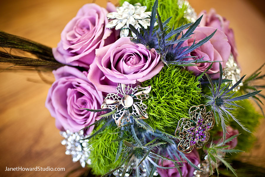 Purple crystal bouquet