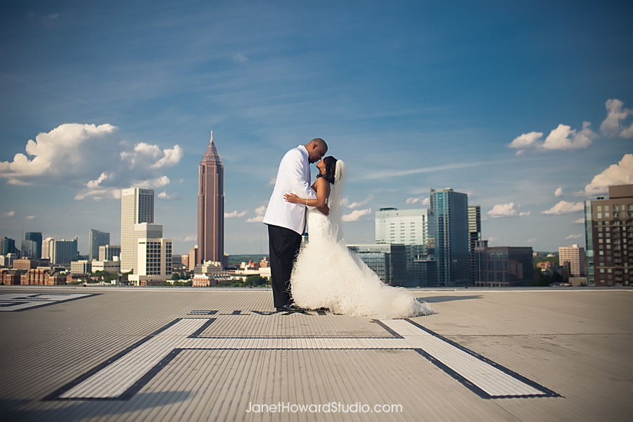 Atlanta Ventanas Wedding Rooftop View
