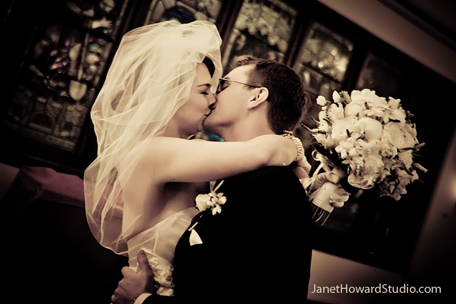 Kiss after the ceremony