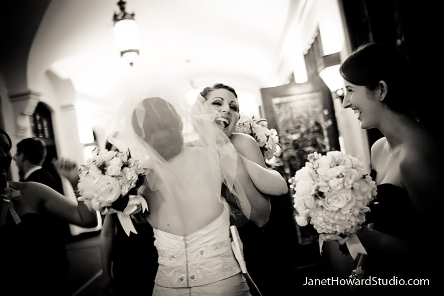 Joyful moment after the ceremony
