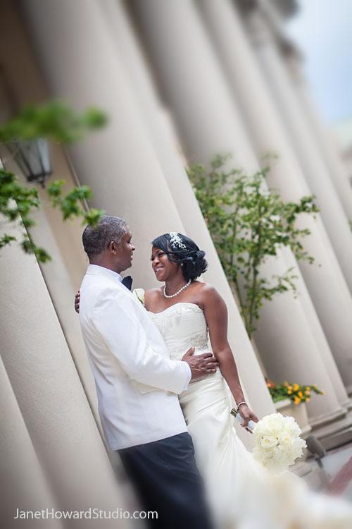 Bride and Groom at Atlanta Biltmore