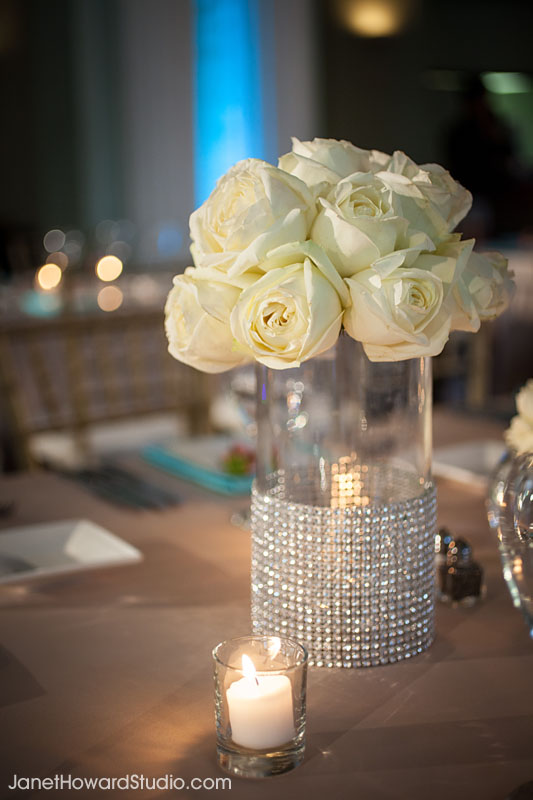 crystal floral centerpiece at Biltmore