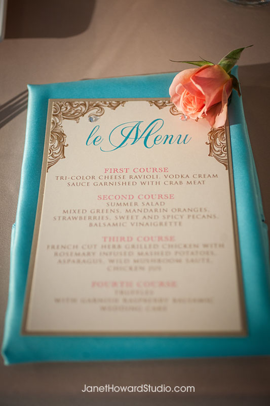menu on linen by Papered Wonders