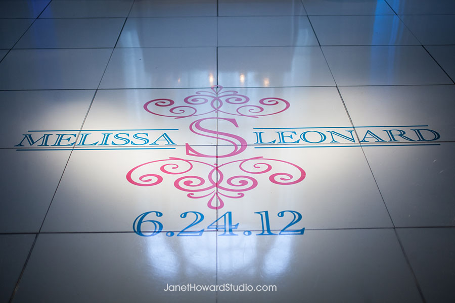 Dance floor monogram by I Do Linens