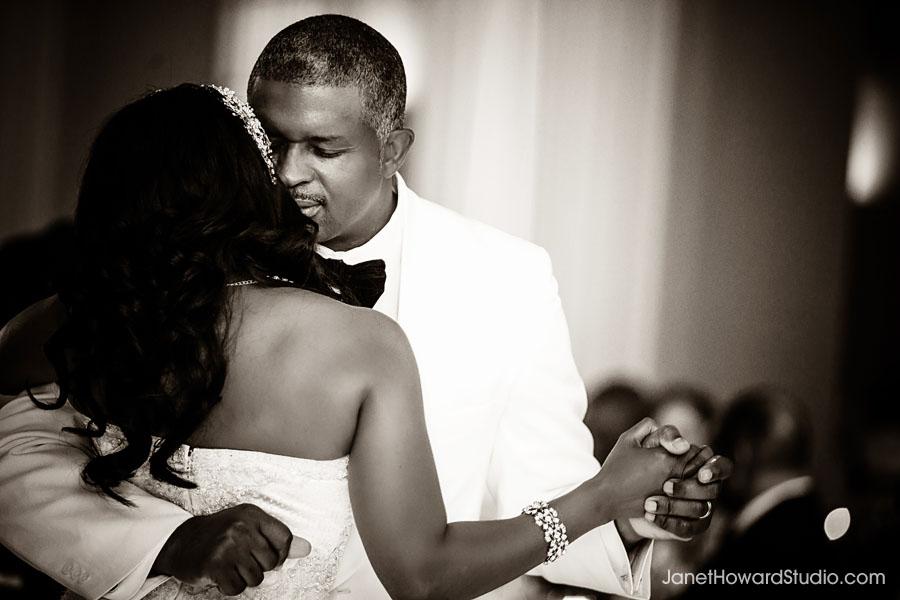 Wedding reception first dance at Biltmore Ballrooms Atlanta
