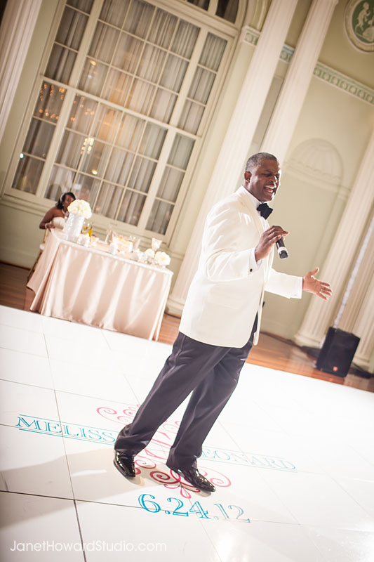 Groom serenades bride at Biltmore Ballrooms Atlanta Wedding