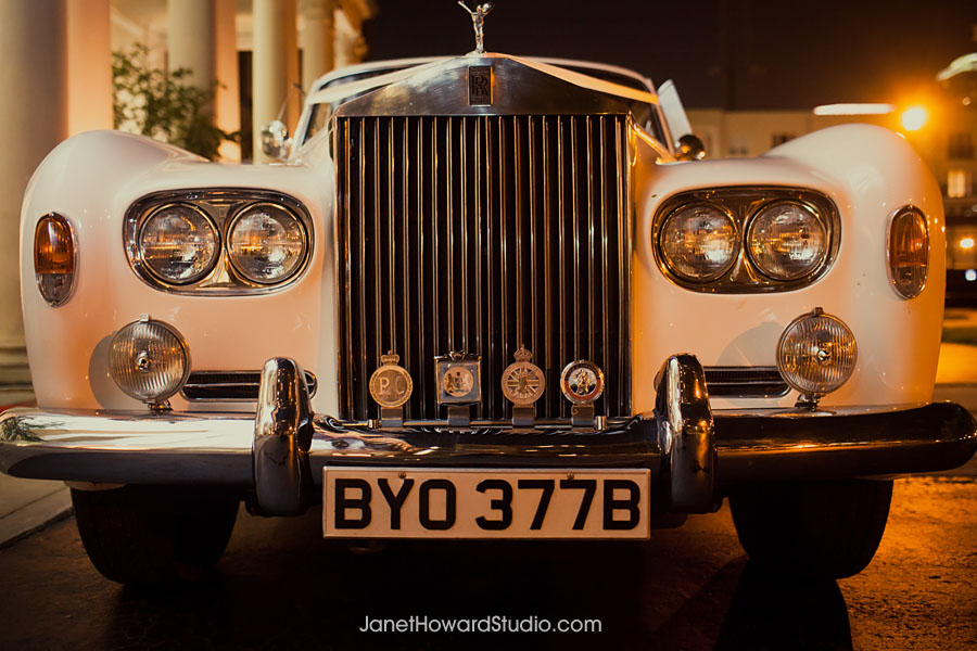 Wedding getaway car at Biltmore Atlanta