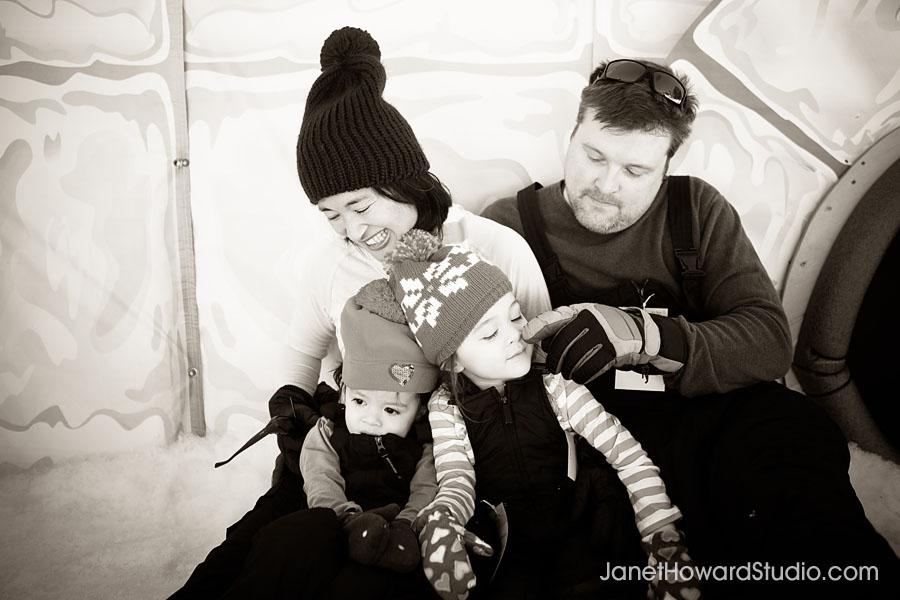 Snow Mountain family fun at Stone Mountain by Janet Howard Studio