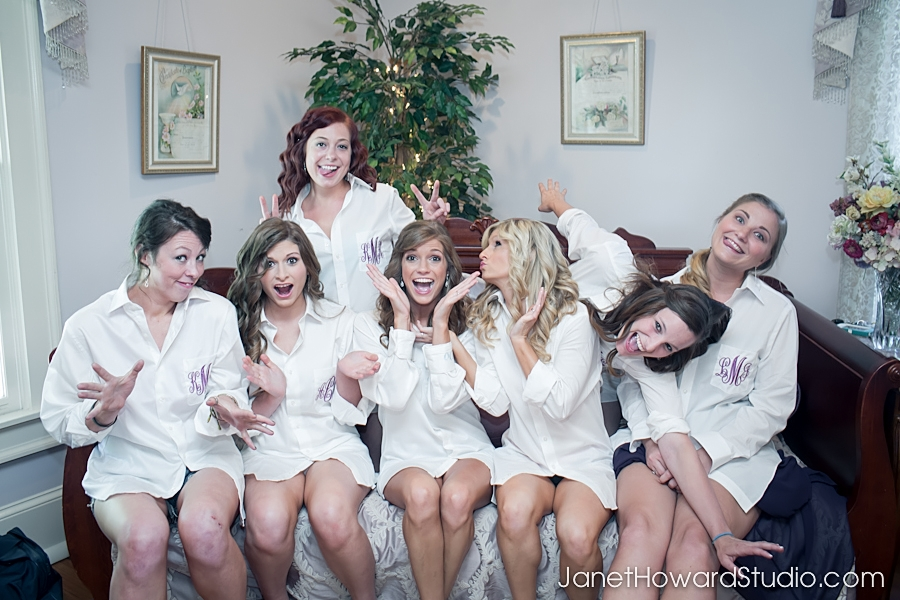 Bride and bridesmaids at The Carl House
